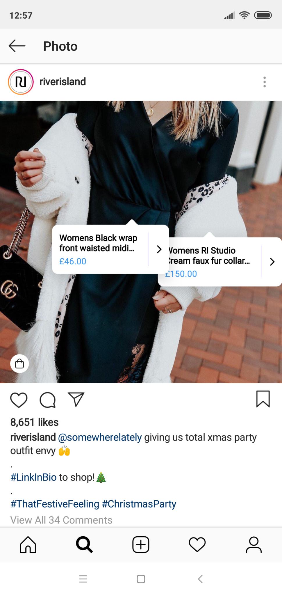 Instagram Shoppable Posts River Island