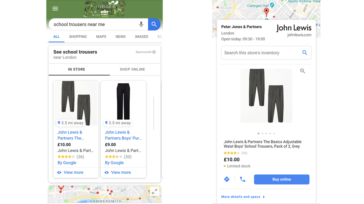 local inventory ads school trousers
